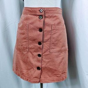 Old Navy Denim Skirt Aline button up
